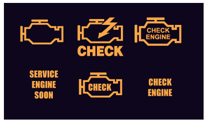 check engine warning light symbols