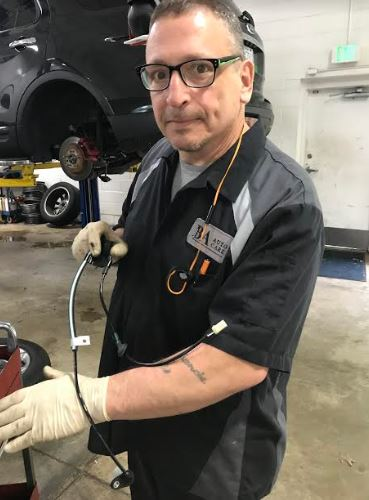 One of the BA auto technicians