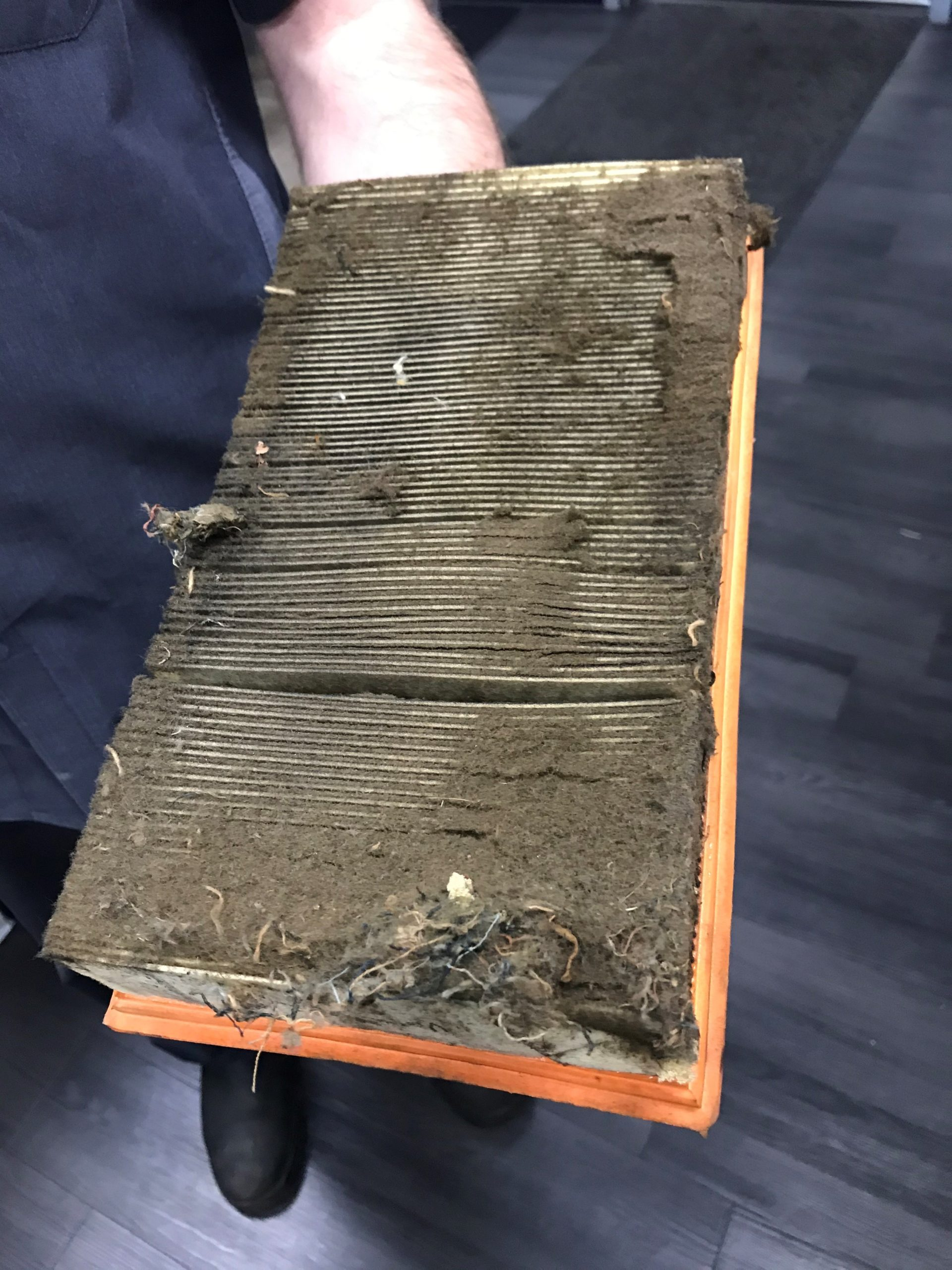 Blocked Air Cleaner Element