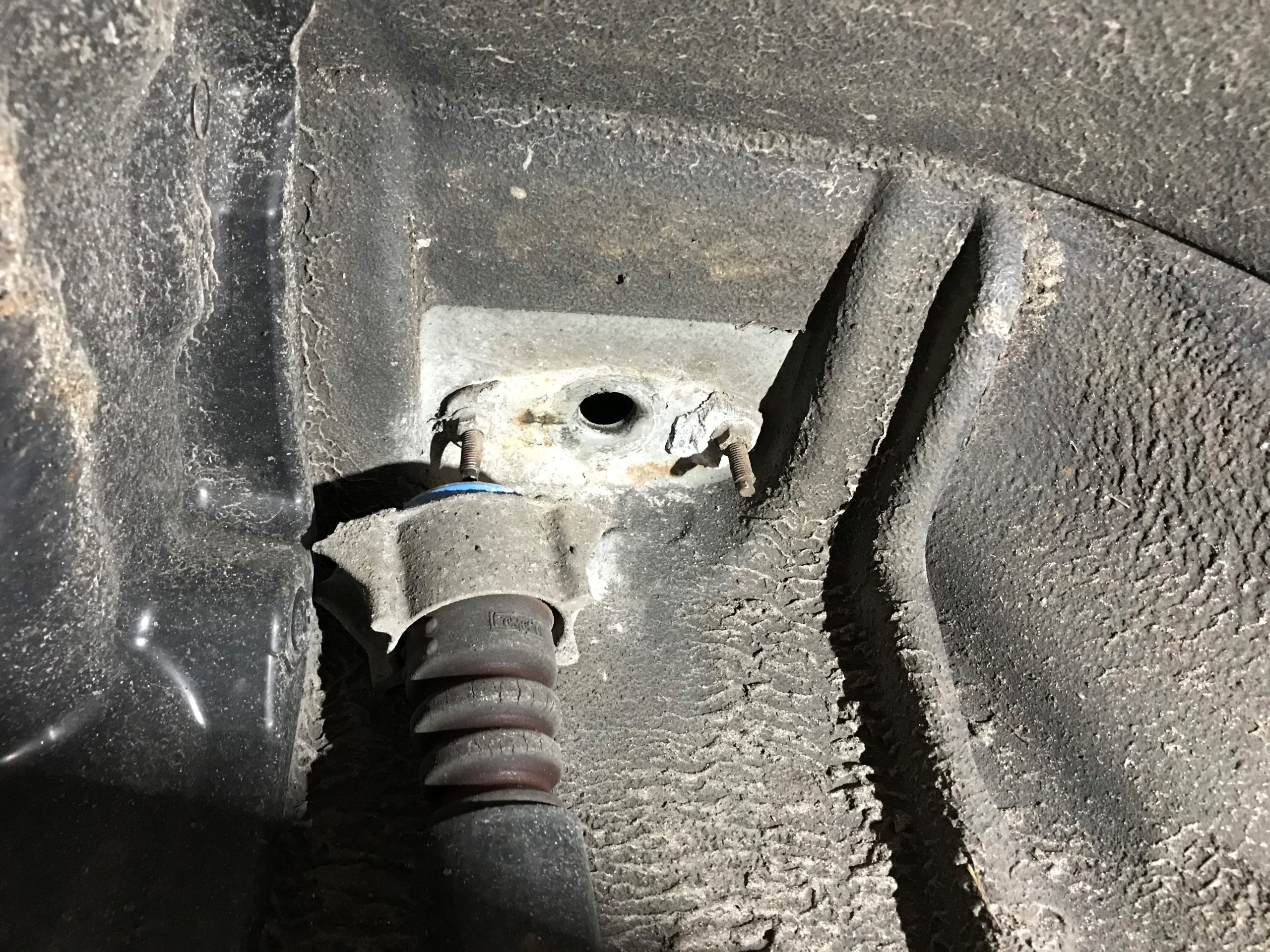 Broken Shock Absorber Mount