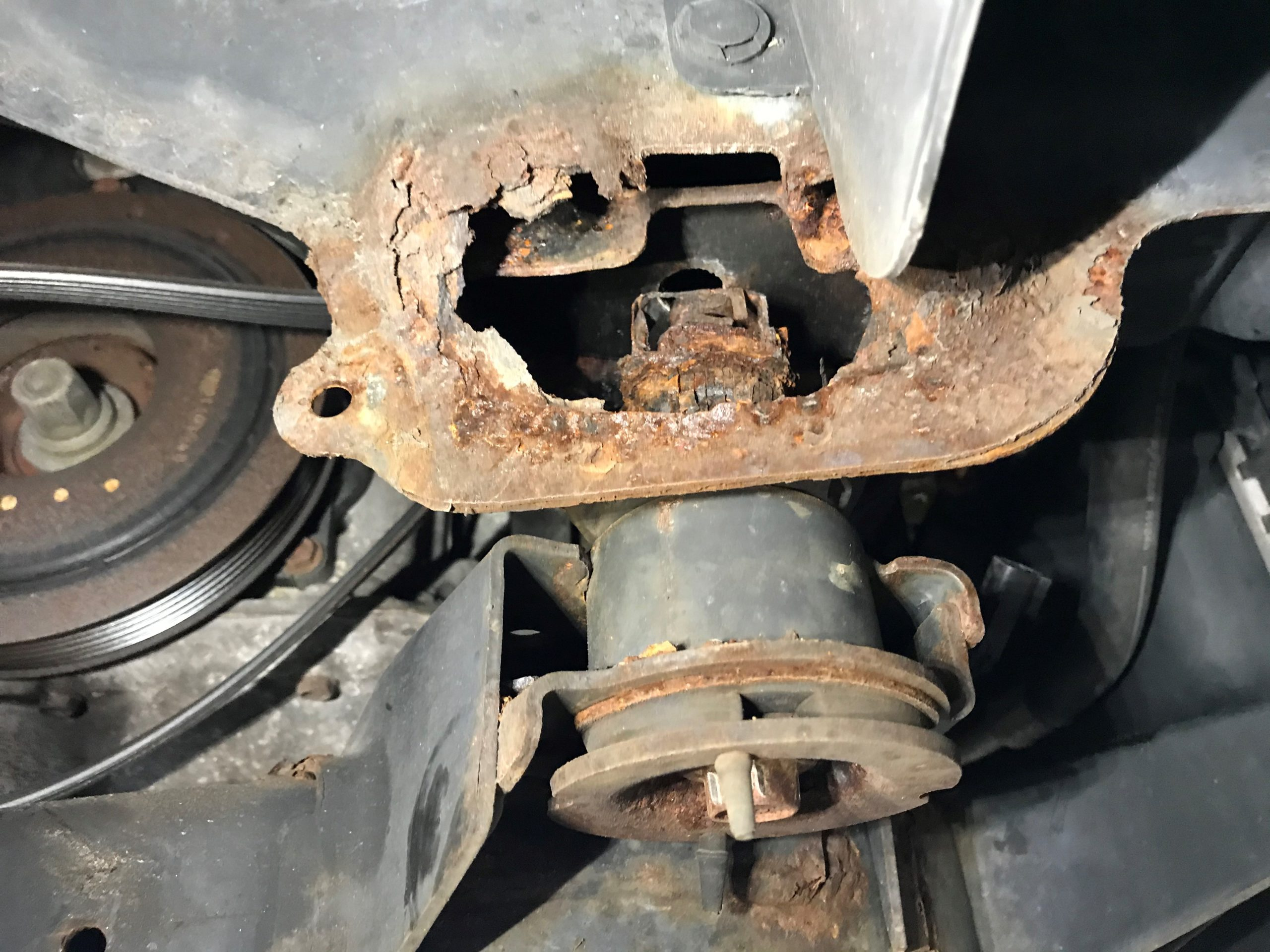 Rotted Suspension Mount